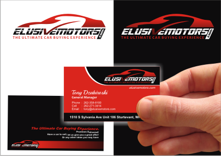 ElusiveMotors.com The Ultimate Car Buying Experience Business Cards and Stationery  Draft # 24 by srikandi
