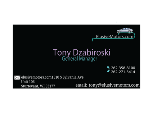 ElusiveMotors.com The Ultimate Car Buying Experience Business Cards and Stationery  Draft # 29 by syedtariq