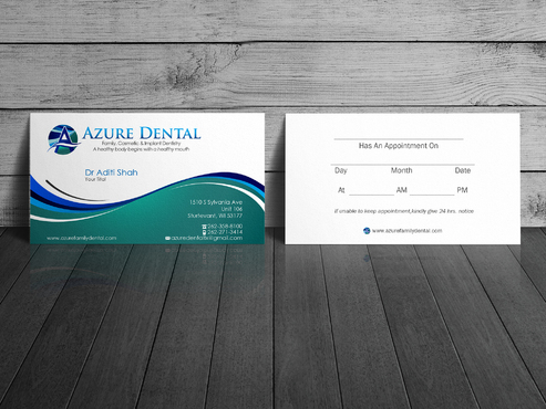 Azure Dental Business Cards and Stationery  Draft # 153 by sevensky