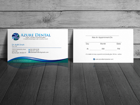 Azure Dental Business Cards and Stationery  Draft # 154 by sevensky
