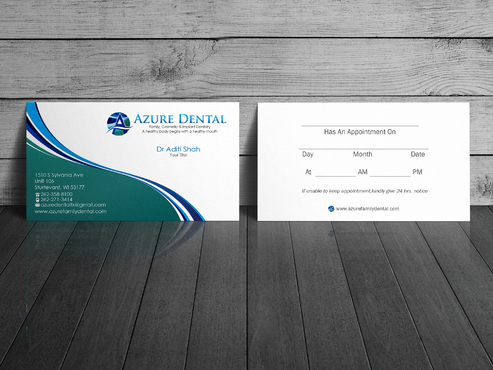 Azure Dental Business Cards and Stationery  Draft # 155 by sevensky