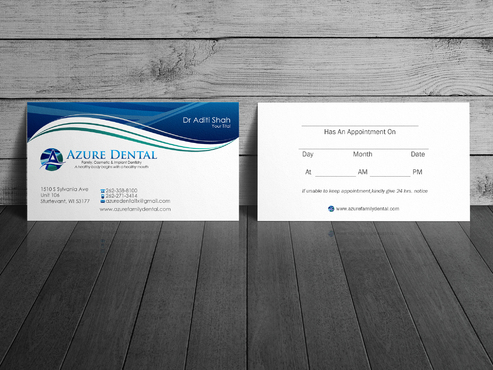 Azure Dental Business Cards and Stationery  Draft # 156 by sevensky