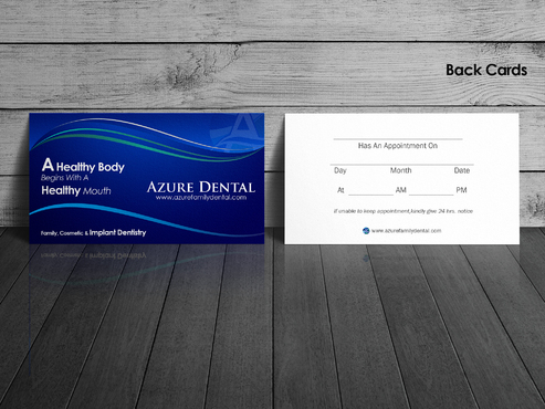 Azure Dental Business Cards and Stationery  Draft # 157 by sevensky