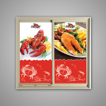 SEA BOIL Restaurant Window Design Graphic Illustration  Draft # 2 by jayaharivkd