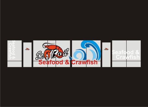 SEA BOIL Restaurant Window Design Graphic Illustration  Draft # 4 by daniarnoko