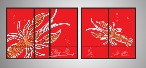 SEA BOIL Restaurant Window Design Graphic Illustration  Draft # 5 by jayaharivkd