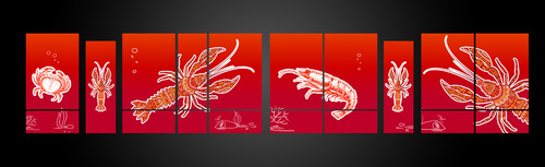 SEA BOIL Restaurant Window Design Graphic Illustration  Draft # 9 by jayaharivkd