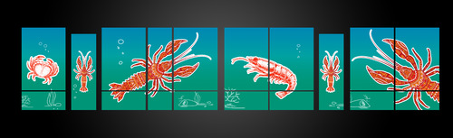 SEA BOIL Restaurant Window Design Graphic Illustration  Draft # 10 by jayaharivkd