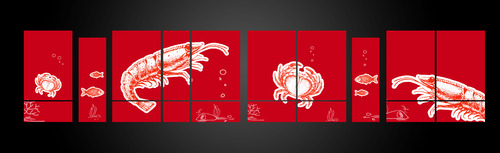 SEA BOIL Restaurant Window Design Graphic Illustration  Draft # 11 by jayaharivkd