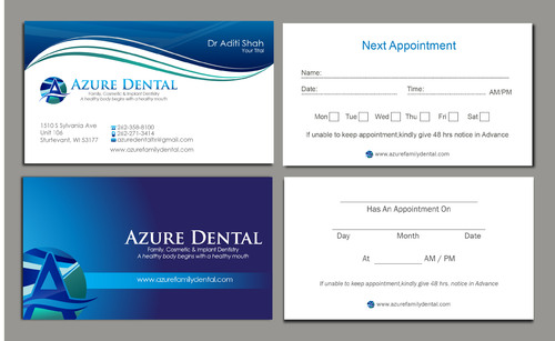 Azure Dental Business Cards and Stationery  Draft # 165 by sevensky