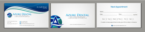 Azure Dental Business Cards and Stationery  Draft # 166 by sevensky