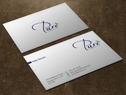 Pure Health Business Cards and Stationery  Draft # 3 by Xpert