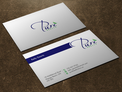 Pure Health Business Cards and Stationery  Draft # 4 by Xpert