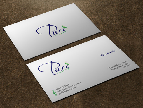 Pure Health Business Cards and Stationery  Draft # 5 by Xpert