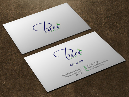 Pure Health Business Cards and Stationery  Draft # 6 by Xpert