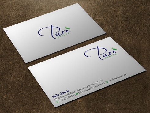 Pure Health Business Cards and Stationery  Draft # 8 by Xpert