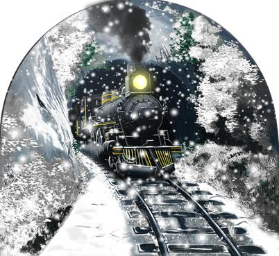 Snow/Winter scene Graphic Illustration  Draft # 9 by aguadaj