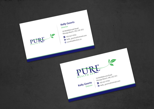 Pure Health Business Cards and Stationery  Draft # 11 by einsanimation