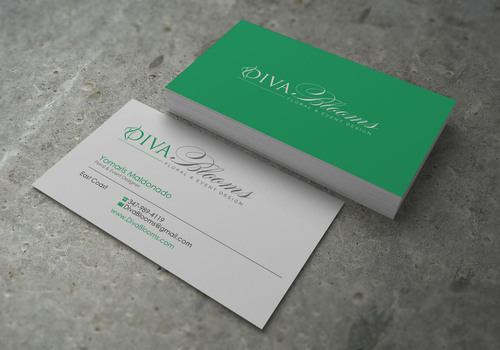 Diva Blooms Business Cards and Stationery  Draft # 139 by sevensky
