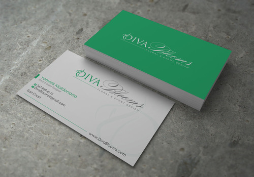 Diva Blooms Business Cards and Stationery  Draft # 141 by sevensky