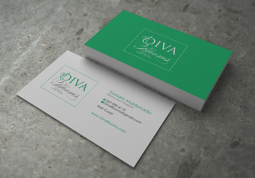 Diva Blooms Business Cards and Stationery  Draft # 142 by sevensky