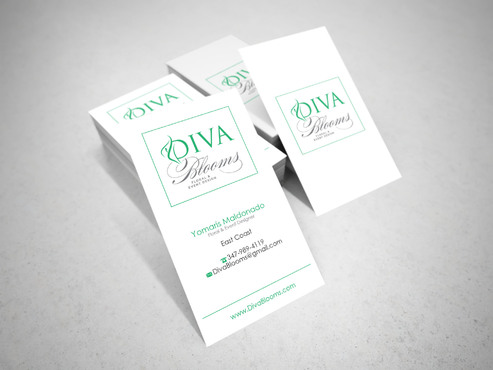 Diva Blooms Business Cards and Stationery  Draft # 143 by sevensky