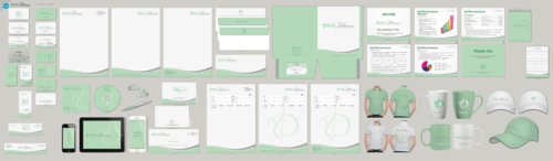 Diva Blooms Business Cards and Stationery Winning Design by aheadpoint