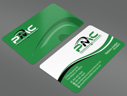 Precision Mechanical Contractors, Inc. Business Cards and Stationery  Draft # 40 by ArtworksKingdom