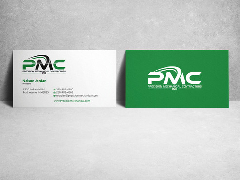 Precision Mechanical Contractors, Inc. Business Cards and Stationery  Draft # 216 by sevensky