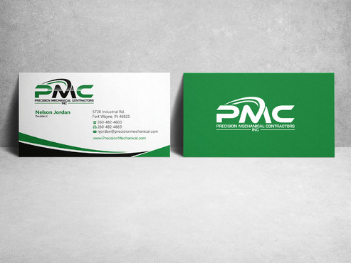 Precision Mechanical Contractors, Inc. Business Cards and Stationery  Draft # 217 by sevensky