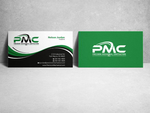 Precision Mechanical Contractors, Inc. Business Cards and Stationery  Draft # 218 by sevensky