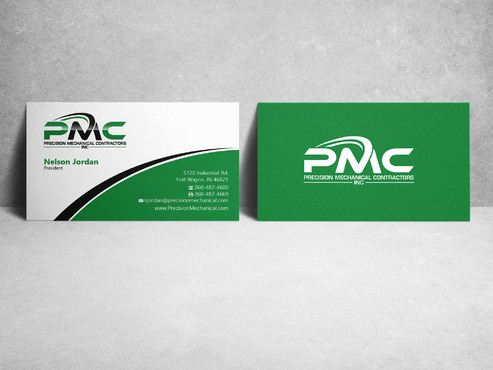 Precision Mechanical Contractors, Inc. Business Cards and Stationery  Draft # 219 by sevensky