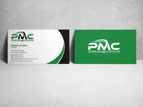 Precision Mechanical Contractors, Inc. Business Cards and Stationery  Draft # 220 by sevensky