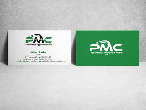 Precision Mechanical Contractors, Inc. Business Cards and Stationery  Draft # 221 by sevensky