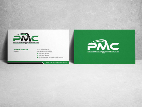 Precision Mechanical Contractors, Inc. Business Cards and Stationery  Draft # 222 by sevensky