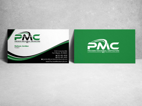 Precision Mechanical Contractors, Inc. Business Cards and Stationery  Draft # 223 by sevensky