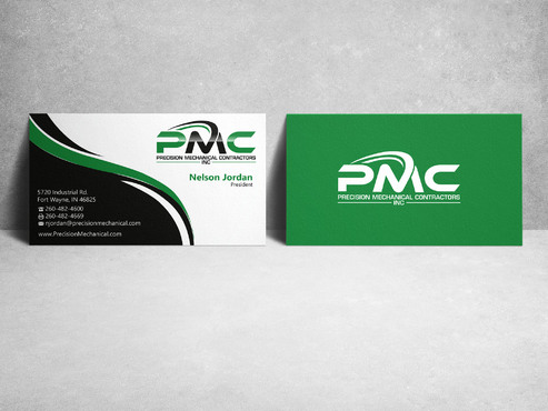 Precision Mechanical Contractors, Inc. Business Cards and Stationery  Draft # 224 by sevensky