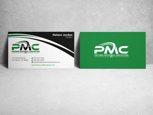 Precision Mechanical Contractors, Inc. Business Cards and Stationery  Draft # 225 by sevensky
