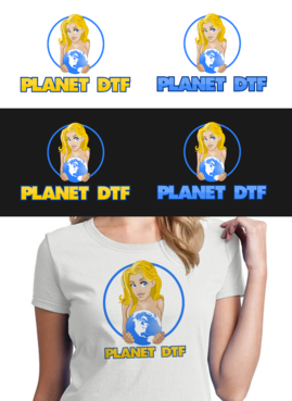 Planet DTF Logo Winning Design by sax75
