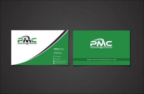 Precision Mechanical Contractors, Inc. Business Cards and Stationery  Draft # 326 by PrintMedia