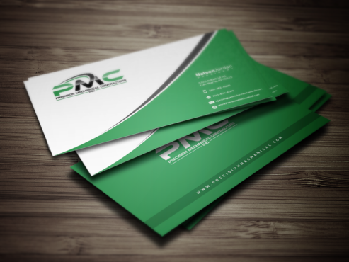 Precision Mechanical Contractors, Inc. Business Cards and Stationery  Draft # 329 by PrintMedia