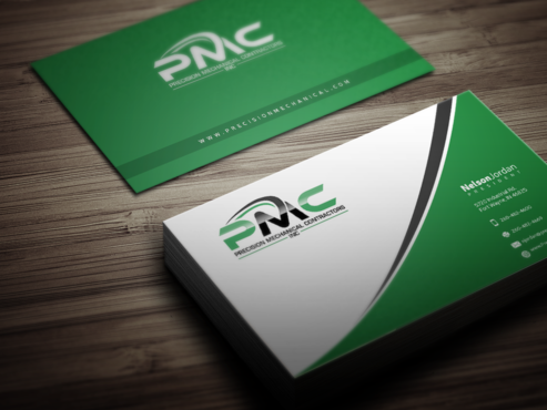 Precision Mechanical Contractors, Inc. Business Cards and Stationery  Draft # 330 by PrintMedia