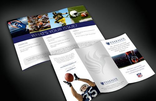 PHENIX Investigations for NFL Pro Athletes Marketing collateral Winning Design by bavas