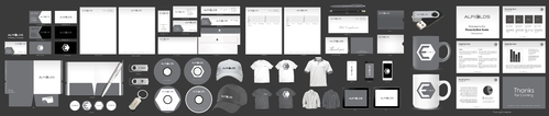 I would like a full set of stationary items including shirts, caps and mugs. more options = better