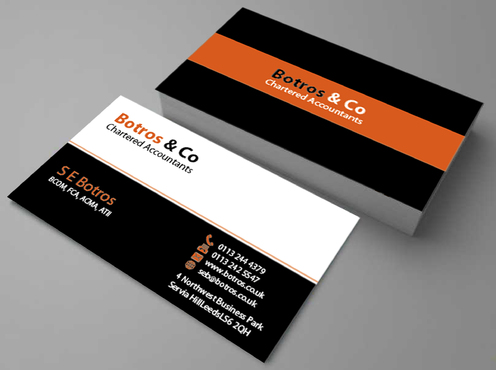 Botros & Co Chartered Accountants Business Cards and Stationery  Draft # 358 by farzanahdesigner