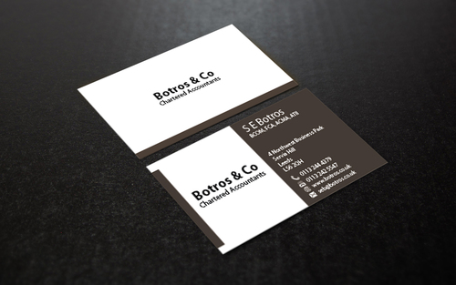 Botros & Co Chartered Accountants Business Cards and Stationery  Draft # 359 by farzanahdesigner
