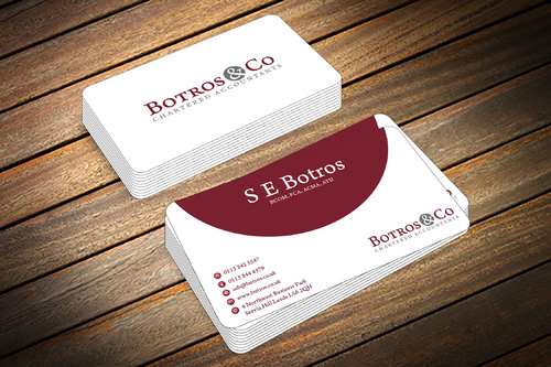 Botros & Co Chartered Accountants Business Cards and Stationery  Draft # 361 by farzanahdesigner