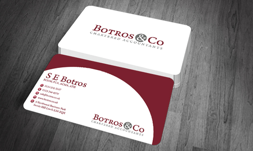 Botros & Co Chartered Accountants Business Cards and Stationery  Draft # 362 by farzanahdesigner