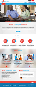 Home Health International Web Design Winning Design by jogdesigner