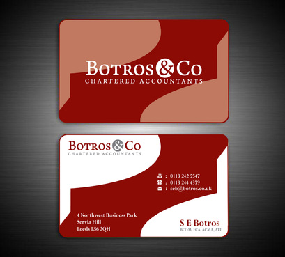 Botros & Co Chartered Accountants Business Cards and Stationery  Draft # 363 by farzanahdesigner